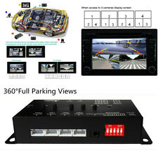 Car 360° Full Parking View w/Front/Rear/Right/Left 4 Camera DVR Video Monitoring