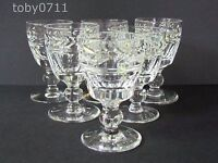STUART CRYSTAL ARUNDEL PATTERN SIX LIQUEUR GLASSES (Ref2190)