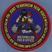 FBI WASHINGTON D.C. JTTF JOINT TERRORISM TASK FORCE POLICE PATCH