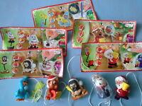 Lot 5 Figurines Kinder Surprise Série Noël 2014 et BPZ FF 276 277 280 281 283