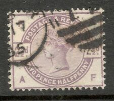 Queen Victoria - SG 190  - 2 1/2d. Lilac - Used ( ₤15.00 ) Letters A F
