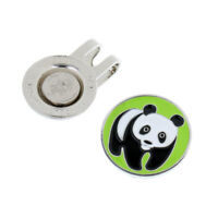 Metal Panda Magnetic Golf Ball Marker with Hat Clip Golfer Gift Accessories