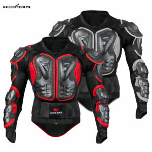 Motocross Motorcycle Body Armoured Jacket Spine Chest Protector Racing Guards