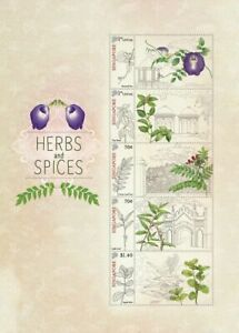 SINGAPORE 2021 HERBS & SPICES MYSTAMP SOUVENIR SHEET OF 5 STAMPS MINT MNH UNUSED