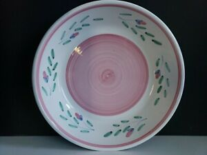 """Pink Garland by Caleca - 10"""" Large Pasta Serving Bowl   DISCONTINUED"""