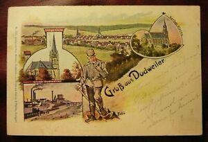 AK Dudweiler, Gruß aus Dudweiler, 1899 gelaufen