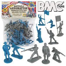 BMC CIVIL WAR Plastic Army Men 26 Battle of Appomattox Soldier Figures 1:32 54mm