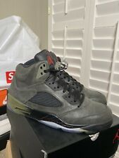 Jordan 5 Retro Fear Pack Sequoia FireRed Olive Black Size 11.5