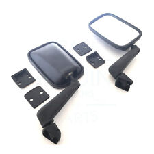 A PAIR OF FORD TRANSIT MK2 1978-1985 WING MIRRORS BLACK, 16280902 (BRAND NEW)