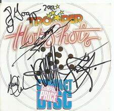 TROOPER  Hot Shots CD Signed by Entire Band Extemely Rare Autographed