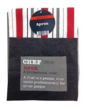 """Contemporanea """"CHEF"""" Design completamente Protettiva CUCINA Wear Clean Cucinare Grembiule"""