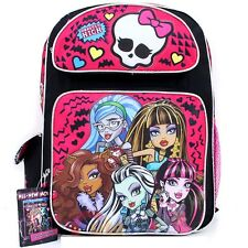 "Monster High 16"" inches backpack - BRAND NEW Licensed Product"
