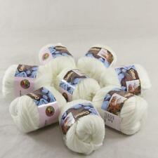 Lot 8BallsX50g Chunky Cotton Special Smooth Scarf Hand Knitting Yarn Pearl White