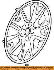 FORD OEM 13-16 Escape Wheel Cover-Hub Center Cap CJ5Z1130A