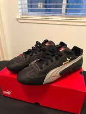 8a9c926ccedf66 Puma Ferrari Black Leather Shoes Mens 7.5 Racing Deadstock