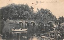 BRUGES BELGIUM RIDGE RIVER WW1 MILITARY FELDPOST POSTCARD 1915