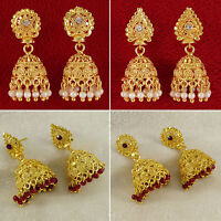Goldtone Traditional Bollywood Jhumka Earring Bridal Women Jewelry BSE7051A-PAR