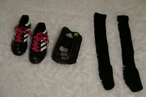 USED  LOT Adidas Shin Guard, Socks and Soccer Cleats - GIRLS