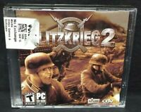 Blitzkrieg 2  - PC Game CD ROM Disc, Case Mint Discs War Game