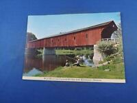 WEST MONTROSE COVERED BRIDGE POSTCARD KITCHENER ONTARIO CANADA