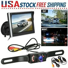 "Wireless Car Rear View Backup Camera Parking System Night Vision +5"" LCD Monitor"