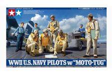 Tamiya 61107 1/48 WWII U.S. Navy Pilots w/Moto-Tug