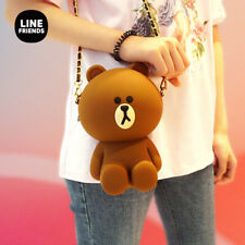 Official Authentic Line Friends Brown Bear Cony Silicone Shoulder Bag Crossbody