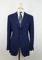 New D'AVENZA Blue Cashmere-Wool 3 Roll 2 Button Sport Coat Size 52/42 R $2995