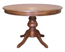 Table ronde classique en bois - Diamètre 120 cm - Fabrication italienne