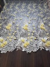 3D Bridal Wedding Embroidery Flower 2017 Lace Corded Dress Fabric