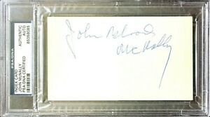 "JOHN ""BLOOD"" McNALLY Signed INDEX CARD PSA Authenticated & Encapsulated"
