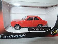 Cararama CR042 1/43 o scale ford escort mki rouge