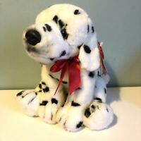 Keel Toys Black & White Dalmation Puppy Dog Soft Toy Plush Red Bow 35cm BNWT
