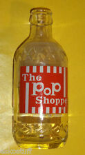 Pop Shoppe 10 oz Clear Glass Bottle Painted Label Nice Graphics! Nice See!