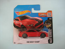 Diecast Hotwheels Night Burnerz Ford Shelby GT350R Red on Blister