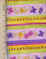 BUTTERFLY KISSES 2625 52 NORTHCOTT  100% Cotton Fabric priced by 1/2 yd