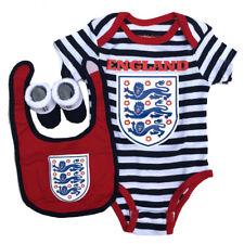 Inglaterra Oficial Pelele / Botín y Babero Set Azul Marino 3-6 Meses