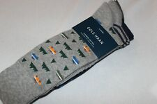 Cole Haan Men's Combed Cotton Assorted Grey Print Dress Sock 3-Pack NWT