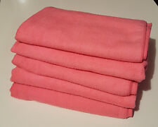 5x Large 60cm x 120cm Microfibre Cleaning Cloth Towel Car Waxing Polishing PINK