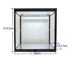 Double LED Showcase For x2 1:18 Scale Cars Display Case H37 x W36 x D17cm