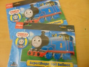 THOMAS THE TANK ENGINE TTTE PARTY SUPERSHAPE FOIL BALLOON x 2 NEW IN PACKET
