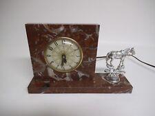 Vintage Lanshire Self Starting Electric Clock, Desktop or Mantle Horse, Working!