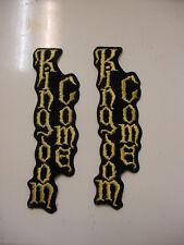"set of 2 Kingdom Come Vintage Iron Patch 90's Heavy Metal 6.5"""