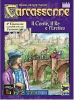 Carcassonne: the Count, Re and heretic, Expansion 6 - Game - New, Italiano