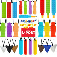 3PCS - 6PCS Sensory Chew Necklace Chewelry Autism ADHD Biting Oral Motor Chewys