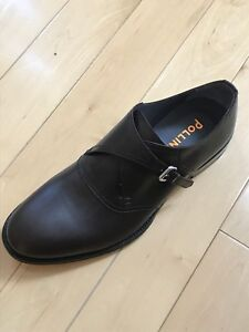 New POLLINI Men's Shoes 9.5 M US (42M) All Leather Made In Italy