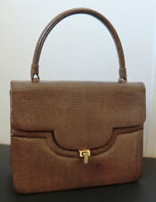 Vintage brown Lizard/Eidechsenleder Handbag/Handtasche