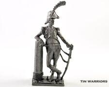 France. Marine officer Tin toy soldier. 54mm miniature figurine. metal sculpture