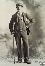 Golf  Poster -  Vintage Golfer/Vintage Golf Photo - 13x19 inches - Whimsical
