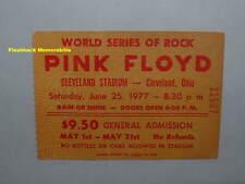PINK FLOYD 1977 GLOBE Concert Ticket Stub CLEVELAND STADIUM Animals MEGA RARE
